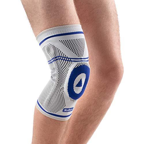 Nutrics | Aktiv Kniebandage | Damen und Herren | Mehr Stabilität | Patellapad + Spiralstangen (L)