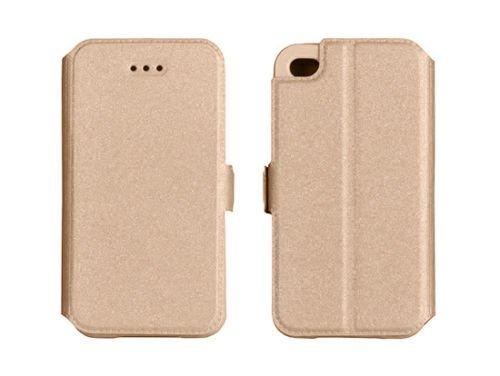 """BOOK CASE 3 für Apple iPhone 7 Plus 5.5""""Cover Handy Tasche Flipcase Etui FLEXI Buchform Kunststoff TPU Halterung für Kreditkarten (pink) gold"""