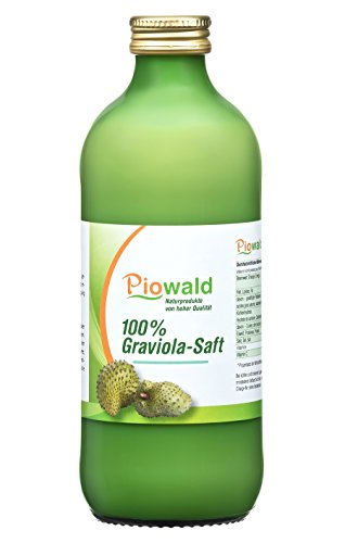 Graviola Saft - 500 ml | 100% Direktsaft ohne Zusätze | Vegan und Laktosefrei | Guanabana, Stachelannone, Guyabano