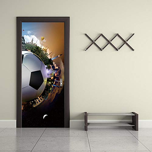 Tür Wandaufkleber 3D Türtapete 3D Fußballtor Aufkleber