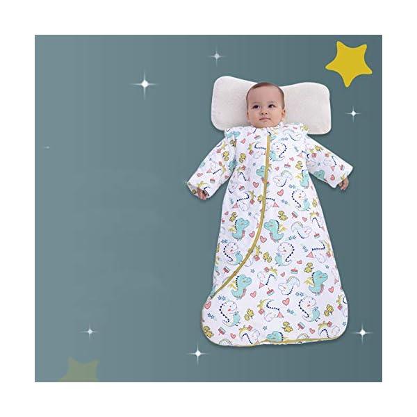 Dtcat Saco de Dormir con pies,Saco de Dormir para bebés,Saco de Dormir de algodón Engrosado de una Pieza para niños…