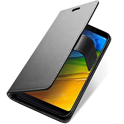 SLEO para Funda Xiaomi Redmi 5 Plus Carcasa Libro de Cuero Ultra Delgado Billetera Cartera [Ranuras de Tarjeta,Soporte Plegable,Cierre Magnético] Case Flip Cover para Xiaomi Redmi 5 Plus
