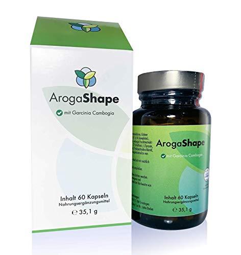 ArogaShape - Abnehmen - Fettkiller - Gewichtsreduktion durch L-Carnithin, Grüner Tee-Extrakt, Pomeranzenfruchtextrakt, Ingwerwurzelstockpulver - Dünner werden - Endlich schlank