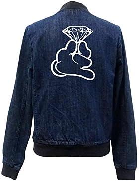 Dope Hands Diamond Bomber Chaqueta Girls Jeans Certified Freak