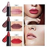 AMUSTER Rouge à lèvres 10 couleurs féminines Flash flash à clapet à lèvres rouge à lèvres matte perle à lèvres brillant (B)