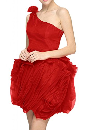 Sunvary Sexy Organza a 1 spalla, abiti da ballo, da Cocktail Party Dresses Rosso
