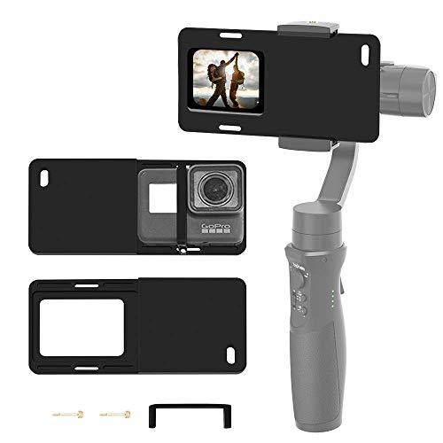 Hohem Action Camera Adapter für Smartphone Gimbal - Montageplatte GoPro Adapter für GoPro Hero 7 6 5 4 3+, für iPhone Gimbal, iSteady Mobile 2, DJI Osmo, Zhiyun Smooth 4 Q usw.