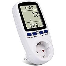 Strommessgerät,Topist Steckdose Energiekostenmessgerät Stromverbrauchszähler Stromzähler mit Großer LCD-Bildschirm,Elektrizitäts-Analysator mit Überlastsicherung,3680 W