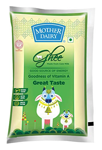 Mother Dairy Cow Ghee, 500ml (Pouch)