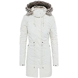North Face Zaneck Parka, Mujer, color Blanco (Vintage White), tamaño L