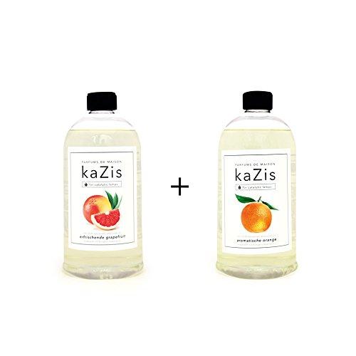 Berger Lavendel-öl Lampe (KAZIS WELT I PARFUMS DE MAISON – 2 x 1 Liter I Duft-Set Grapefruit + Orange Alternative für d. Lampe Berger I Duft Öl I Nachfüllöl (Refill) I Raum Duft I Parfum I 2 x 1000 ml)