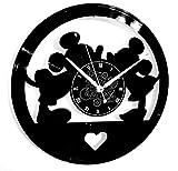 Instant Karma Clocks Horloge Murale en Vinyle Disque LP 33 Tours idée Cadeau Vintage Faite à la Main Cartoon Amore Love Topi Mickey
