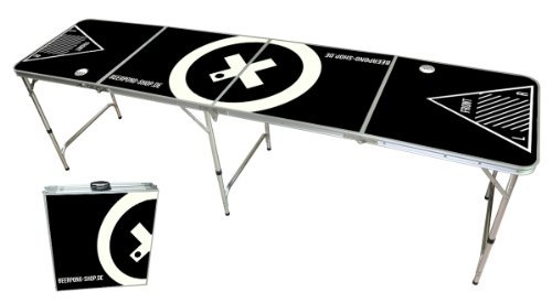 #Beer Pong Tisch – Audio Table Design – Beer Pong Table inkl. Ballhalter und 6 Bälle#
