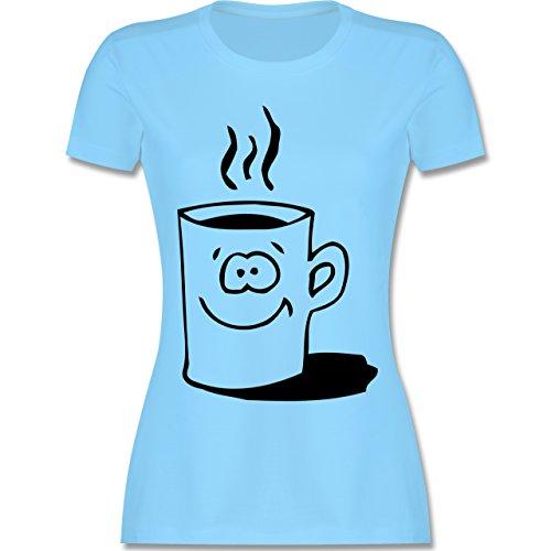 Küche - Tasse - tailliertes Premium T-Shirt mit Rundhalsausschnitt für  Damen Hellblau