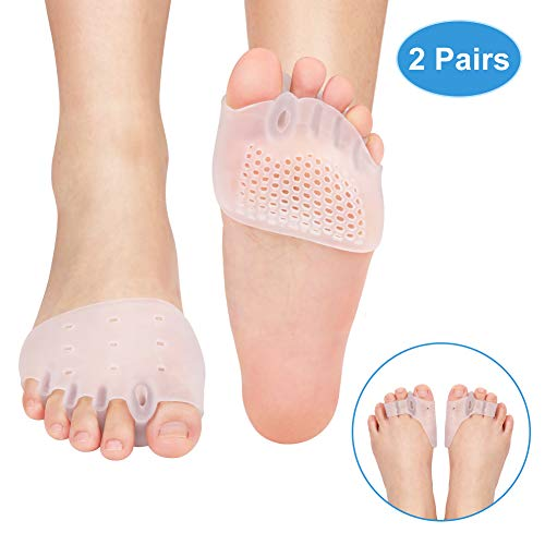Doact® 5 fori alluce valgo gel e 3 fori separatore dita piede, toe correttore protezione divaricatore, dito a martello per il sollievo dal dolore borsite di giorno e di notte indossare scarpe correre
