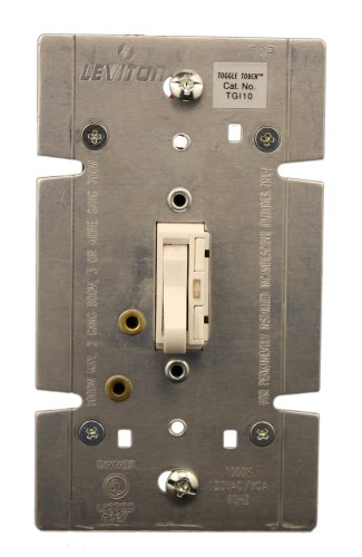 Leviton 1000W, 120VOLT AC 60Hz, 1pol. und 3-Wege-, toggletouch Preset Digital Glühlampen toggletouch Dimmer, LED Locator Licht, TGI10-1LW, 1000.0watts -