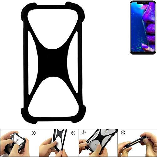 K-S-Trade Handyhülle für Allview Soul X5 Pro Schutz Hülle Silikon Bumper Cover Case Silikoncase TPU Softcase Schutzhülle Smartphone Stoßschutz, schwarz (1x)