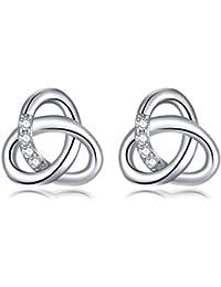 Ohrringe Silber Damen Ohrstecker 925er Sterlingsilber Dorosé Damen Schmuck  Ohrschmuck Set mit Knoten-Design Geschenk 2bcb095e94