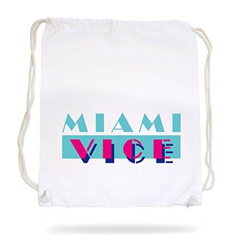 Miami Vice Logo Gymsack White Certified Freak