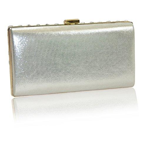 Handbag Krazy, Poschette giorno donna Meteor Silver