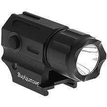 SecurityIng resistente al agua gun-mounted luz estroboscópica linterna táctica, Cree LED (2modos 210lm linterna pistola pistola luz con Weaver Mount