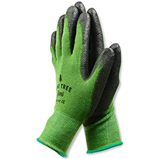 Bamboo Working Gloves for Women & Men. Ultimate Barehand Sensitivity Work Glove for Gardening, Fishing, Construction and Restoration Work & More. Breathable by Nature! Medium - 1 pack Green