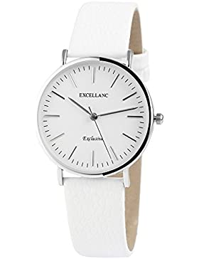 Trend-Wares Damen-Armbanduhr Weiß Silber Analog Quarz Metall Leder Klassisches Design Damenuhr