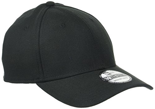New Era Erwachsene Baseball Cap Mütze 39Thirty Stretch Back, Black, S/M, 11086491