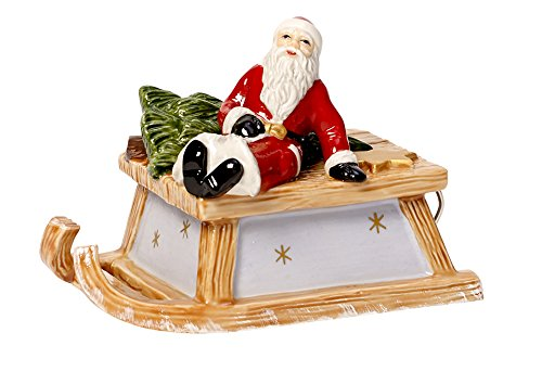 Villeroy & Boch Nostalgic Melody - Christmas figure with sleigh design with Santa