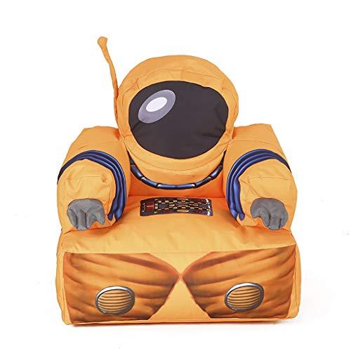 Kinder Möbel Sofa, Nylon-Stoffhülle EPS Partikel Gefüllt Thema Astronaut Orange Sessel (Size : 52×65×75cm) -