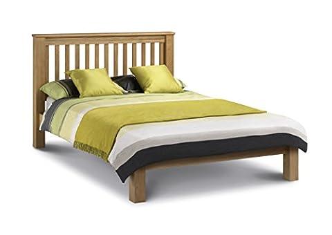 Julian Bowen Amsterdam Oak Bed Low Foot End Size 135cm,150cm,180cm (Amsterdam LFE Bed 135cm)