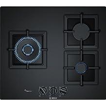 Bosch PPC6A6B20 Integrado Encimera de gas Negro hobs - Placa (Integrado, Encimera de gas, Vidrio, Negro, hierro fundido, 1000 W)