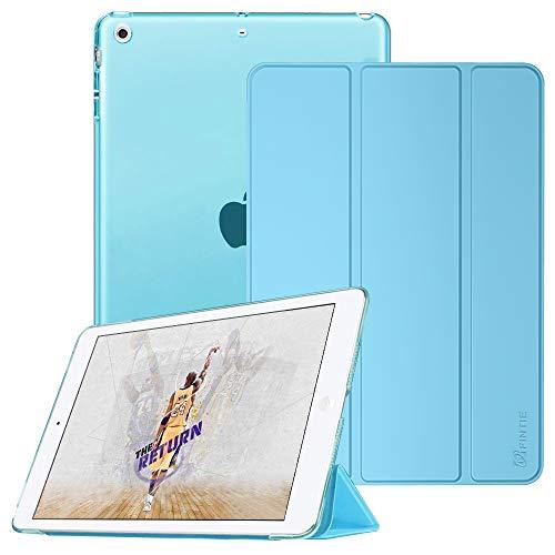 lle - Ultradünne Superleicht Schutzhülle mit transparenter Rückseite Abdeckung Cover mit Auto Schlaf/Wach Funktion für Apple iPad Mini/iPad Mini 2 / iPad Mini 3, Himmelblau ()