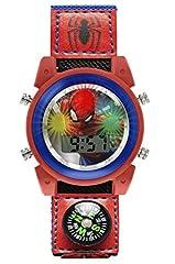 Idea Regalo - Spiderman Orologio Digitale Unisex Bambini con Cinturino in Tessuto SPD4586