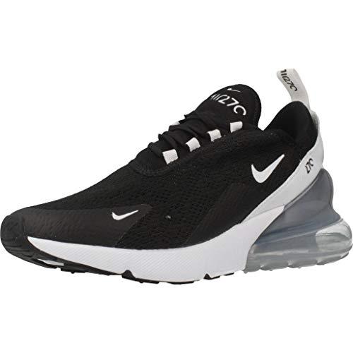 Nike Damen W Air Max 270 Leichtathletikschuhe, Mehrfarbig (Black Pure Platinum/White 000), 41 EU