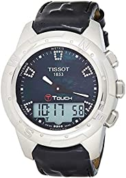 Tissot Womens Quartz Watch, Analog-Digital Display and Leather Strap T047.220.46.3882.86