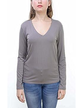 Abbino Domezia Camisas Blusas Tops para Mujeres - Hecho en ITALIA - 5 Colores - Entretiempo Primavera Verano Otoño...