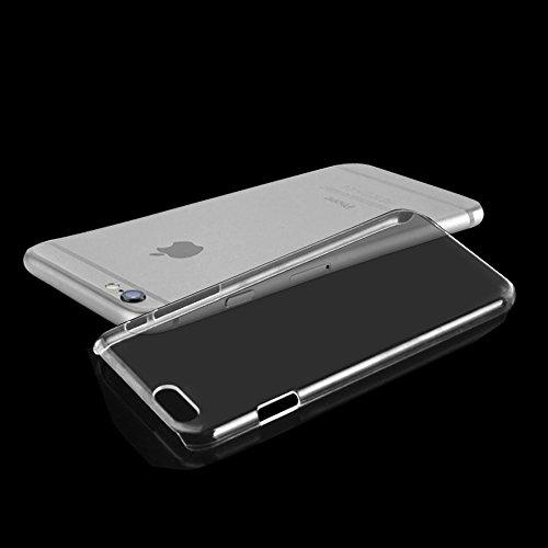 iPhone 4 Hardcase inklusive Schutzfolie fürs Display kristallklar / durchsichtig Schutzhülle Handyhülle Apple iPhone 6 (4,7Zoll)