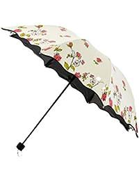 MDBLYJCreatividad casera Paraguas de la Lluvia de la protección del Sol del Vinilo, Paraguas de