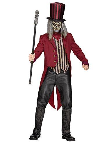 Psycho Zirkusdirektor Halloweenkostüm Dompteur rot-schwarz-beige M / (Zirkusdirektor Halloween)