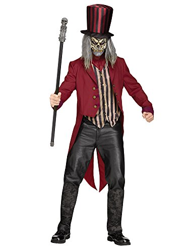 Psycho Zirkusdirektor Halloweenkostüm Dompteur rot-schwarz-beige M / L
