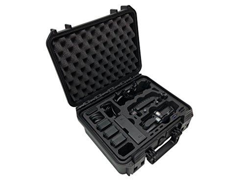 """Profi Transportkoffer \""""Travel Edition Plus\"""" Koffer für für DJI Mavic Air Fly More Combo + Zubehör Oder bis zu 10 Akkus, Wasserdichter Outdoor Case IP67 (Schwarz)"""