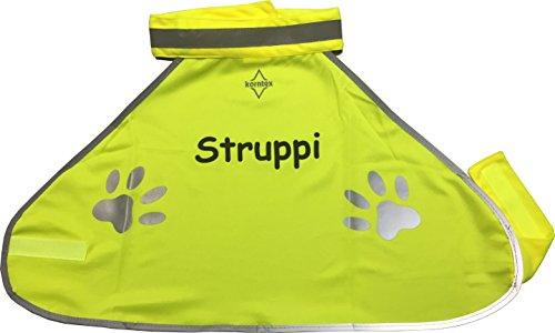 Warnweste Hund Sicherheitsweste Hundewarnweste bedruckt mit Name (S)