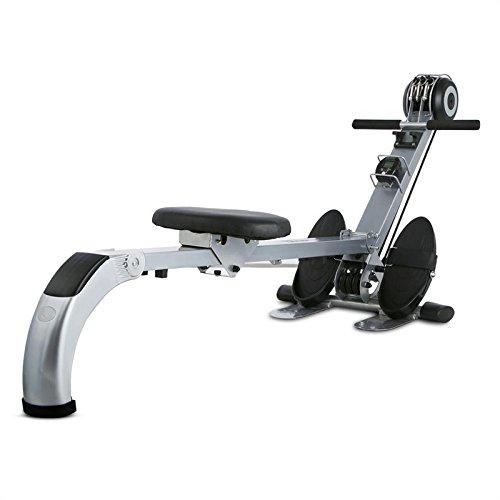 Capital Sports Stringmaster • Machine Aviron de Musculation et Entrainement Fitness • Rameur d'appartement Pliable • Charge Max de 100kg • Ordinateur de Bord • Métal Robuste • Gris