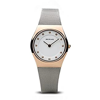 BERING Reloj Analógico para Mujer de Cuarzo con Correa en Acero Inoxidable 11927-064