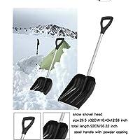 NJXM Pala de Nieve, Nieve Pala Coche retráctil, Remoción de Nieve Plegable Herramienta para el Coche, Acampar al Aire Libre, jardín y Actividades al Aire Libre,Negro
