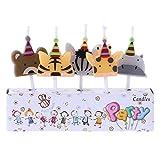 ruiruiNIE 5Pcs / Set Candele di Compleanno di Animali di Candela di Forma del Partito dello Zoo di Candela Carino