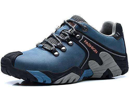 SINOES Zapatos de Senderismo para Hombre al Aire Libre Trekking Low-Top Profesional Antideslizante Zapatillas...