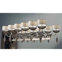 Iluminación de isbel cromo níquel a mano, Made in Italy, Made with Murano Glass