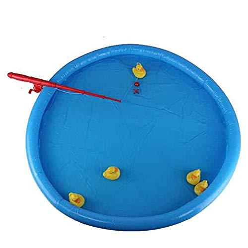 Curitely Ente Angeln Spiel Teich Pool ,mit 5 Entenküken Set Kinder Bildungs Vorschule Spielzeug
